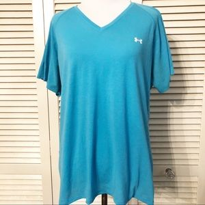 Under Armour | Blue V Neck Athletic Tee Shirt